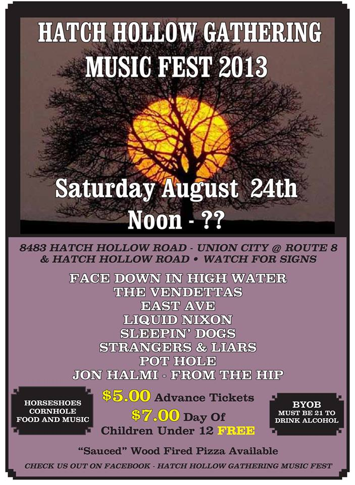 Tickets are $7 at the gate. BYOB! Music, games, food and good times included.