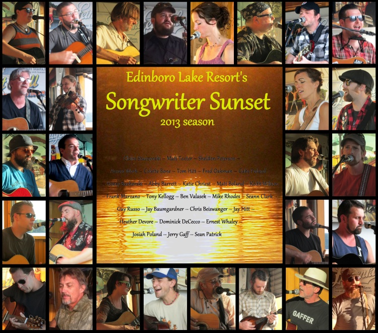 The Songwriter Sunset songwriters, 2013 season.